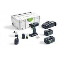 Festool  Trapano avvitatore a batteria T 18+3 HPC 4,0 I-Set