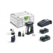 Festool Trapano avvitatore a batteria C 18 HPC 4,0 I-Set